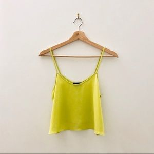 Topshop Yellow Crop